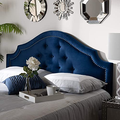 Reviewed: Baxton Studio Cora Modern and Contemporary Royal Blue Velvet Fabric Upholstered King Size Headboard