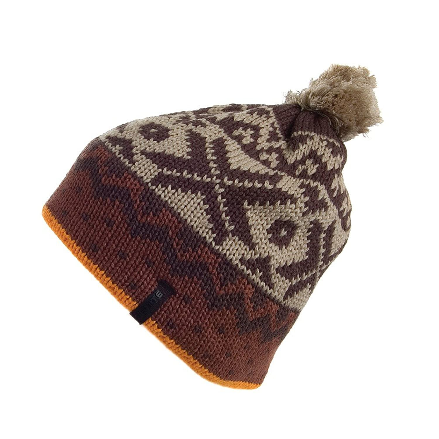 8c0a4985578 Ignite Yukon Bobble Hat - Brown Brown 1-Size  Amazon.co.uk  Clothing
