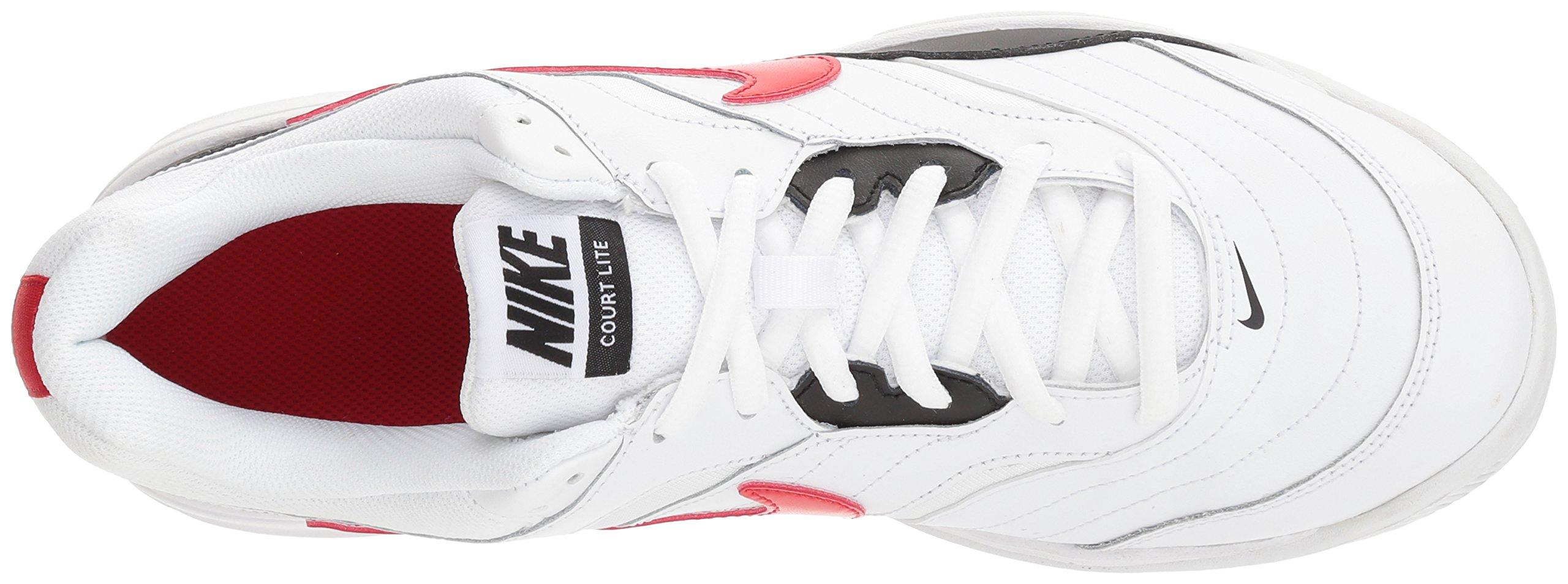 Nike Men's Court Lite Tennis Shoe, White/University red/Black, 7.5 D US by Nike (Image #8)