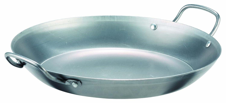 GSW GastroTraditionell 860628 Lyon Iron Paella Pan 40 cm GSW Gaens Stahlwaren