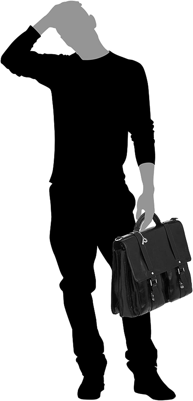 Picard Buddy Aktentasche aus Leder mit Magnetverschluss Businesstasche 18 Liter 33 x 40 x 16 cm 4539 verstaubarer Schultergurt Herren//Damen H//B//T 2 Aktenf/ächer