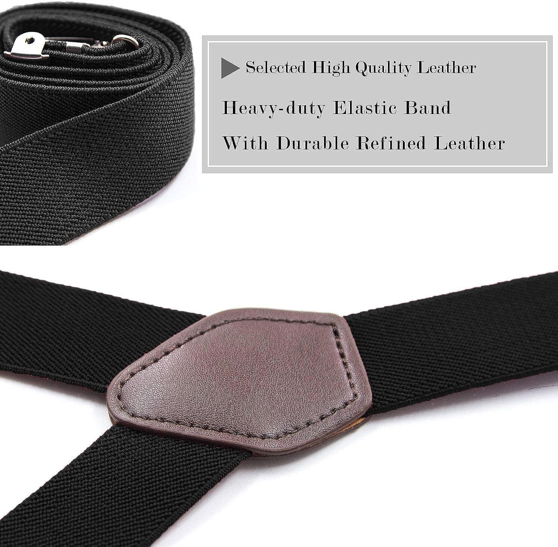 MLM Giarrettiera Bretelle Uomo Y-Style Camicia con morsetti antiscivolo e cinghie regolabili