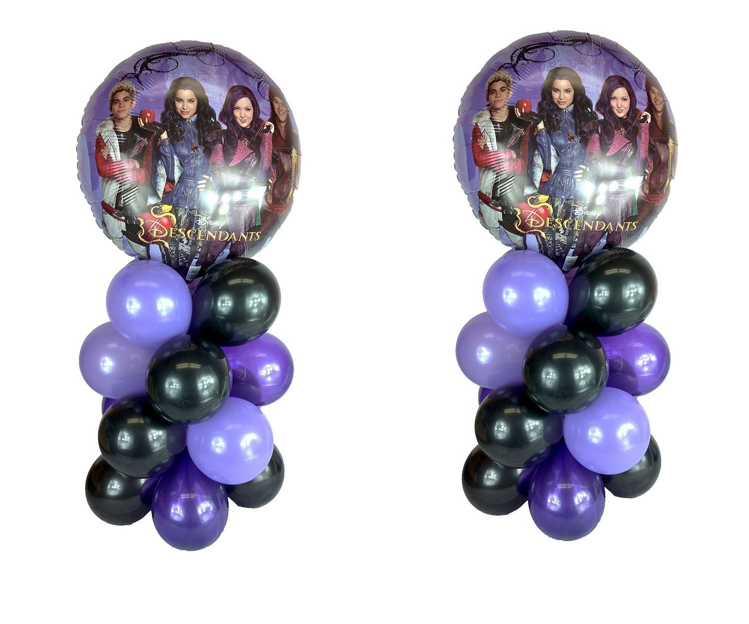 The Descendants Balloon Table Display Birthday Party - AIR FILL, NO HELIUM NEEDED! ~ 2 pack by Party Supplies