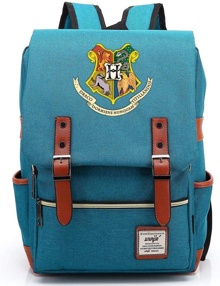 Zipper Or Grande Bleu Casual Fashion Student Bag Harry P Sac /à Dos,Hogwarts College Potter Rucksack