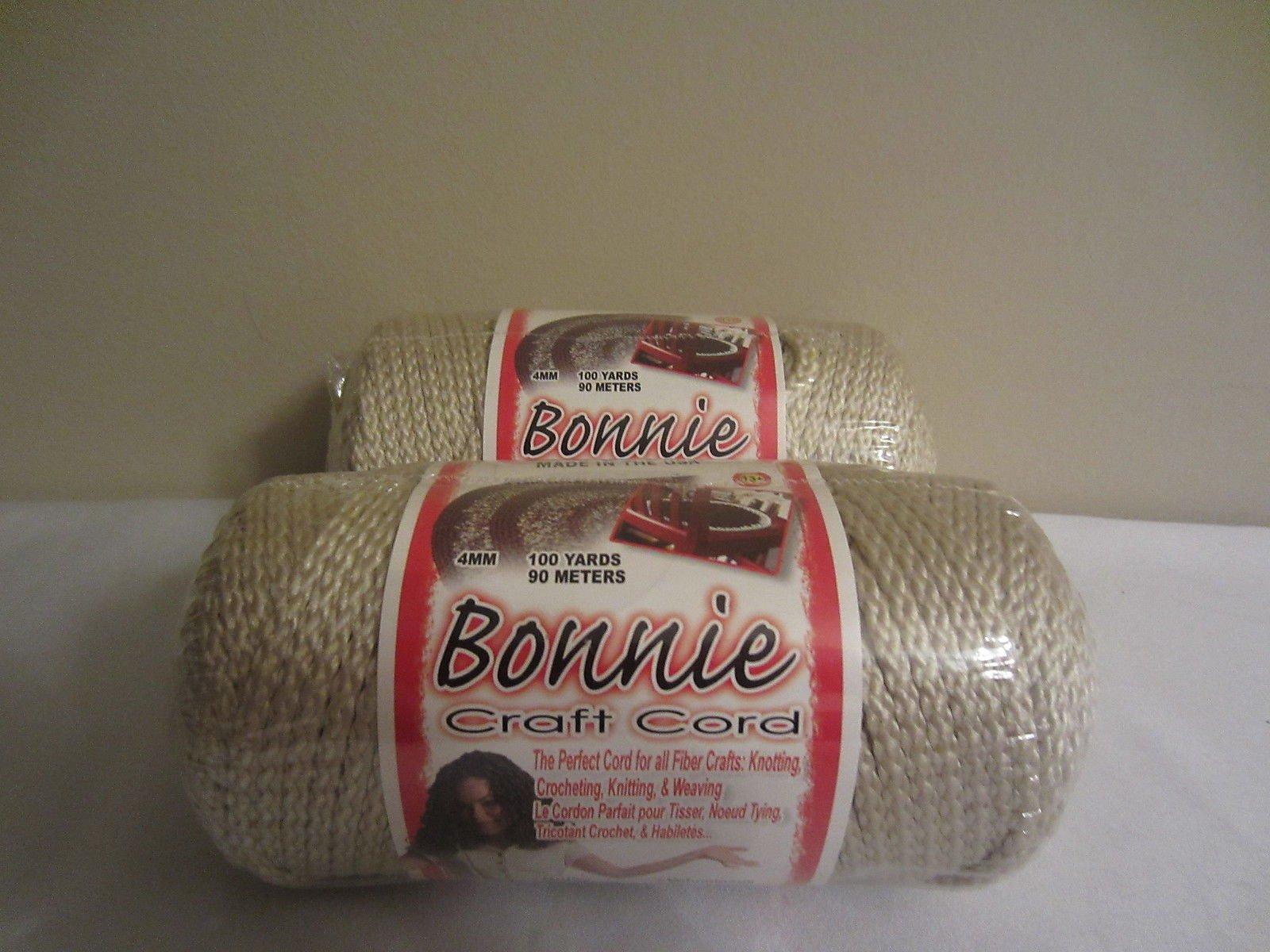 Bulk Buy: Pearl Beige Bonnie Braid Macrame Craft Cord 4mm 100yds (2-pack)
