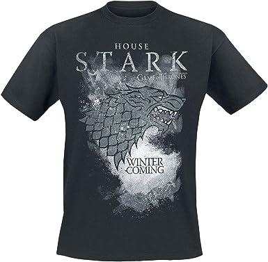 Game Of Thrones Juego de Tronos House Stark - Winter Is Coming Hombre Camiseta Negro, Regular: Amazon.es: Juguetes y juegos