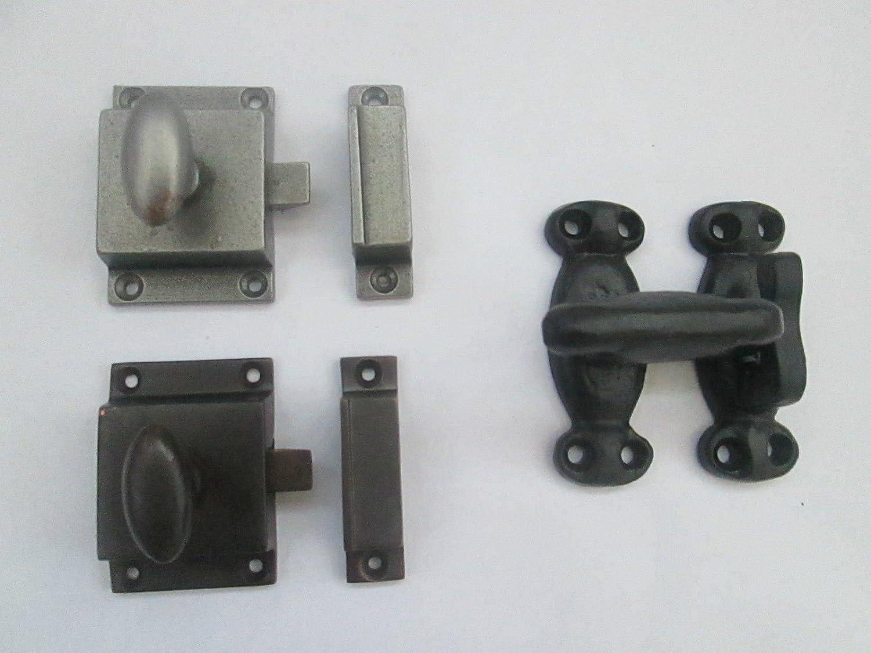 Bathroom Door Lock Turn /& Release Knob in Black cast iron
