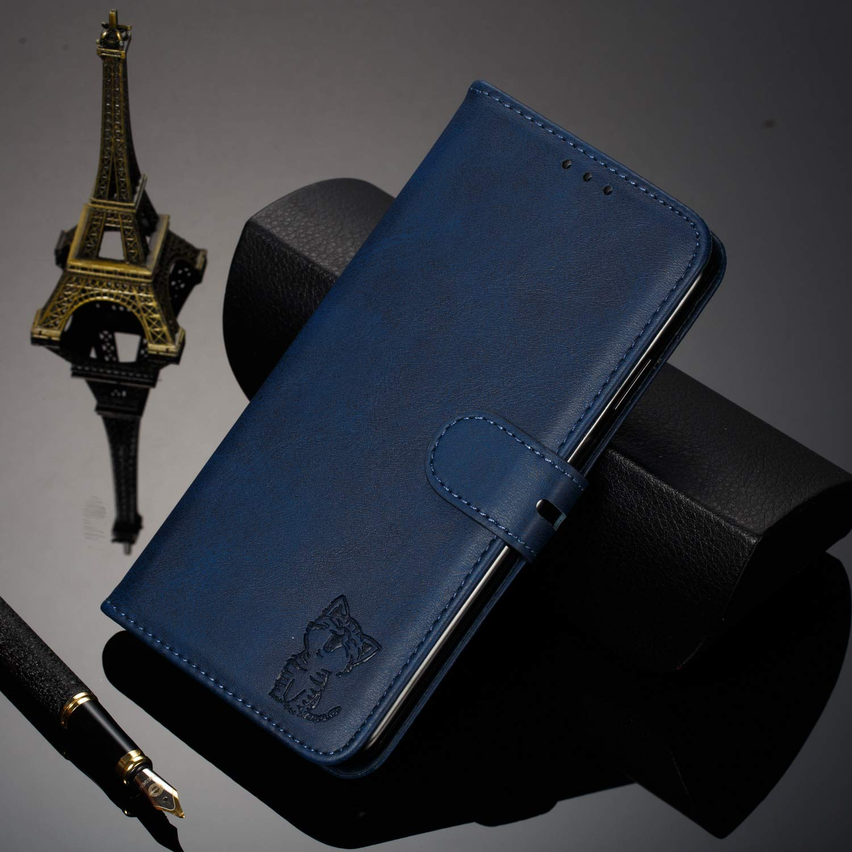 H/ülle Leder Case mit Standfunktion Magnetverschluss Flipcase Klapph/ülle kompatibel mit Samsung Galaxy A40 Docrax Galaxy A40 Handyh/ülle DOXLI010150 Schwarz