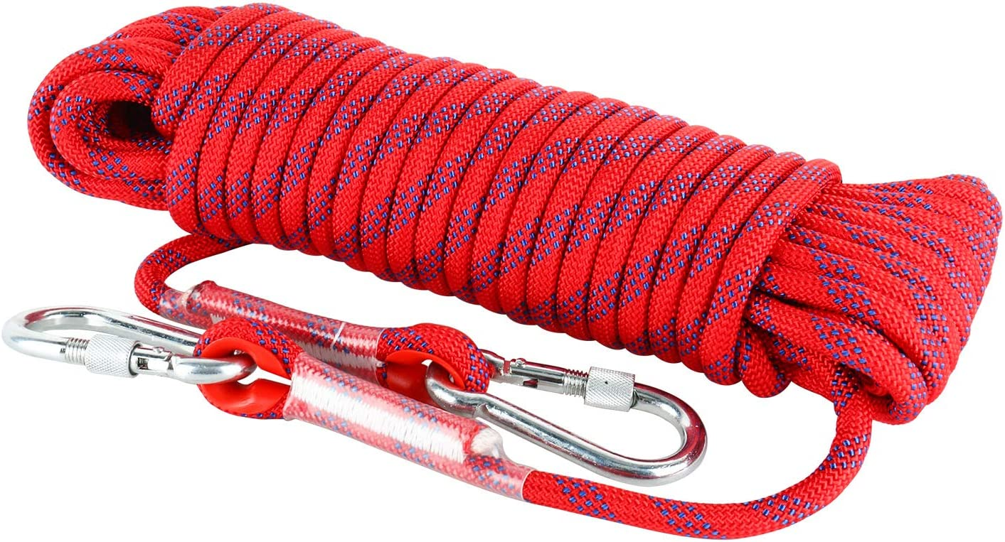 160FT 50M Static Rock Climbing Rope Fire Escape Safety Rappelling Rope Yaegoo Outdoor Climbing Rope 20M 65FT 30M 40M 96FT 130FT