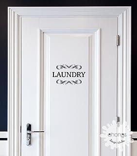 Laundry Decal / Door Decal / Pantry Door Decal / Restroom Decal / Office Sticker /  sc 1 st  Amazon.com & Laundry Vinyl Decal Laundry Room Decal Laundry Door Decal Glass Door ...