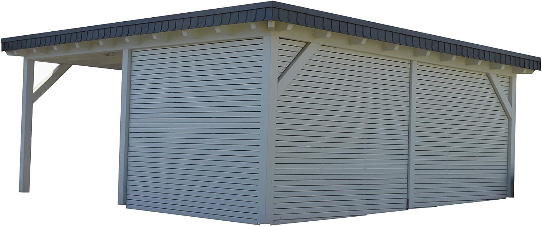 CarPort tejado plano para un coche de almacén oeynh ausen cola Madera Maciza: Amazon.es: Coche y moto