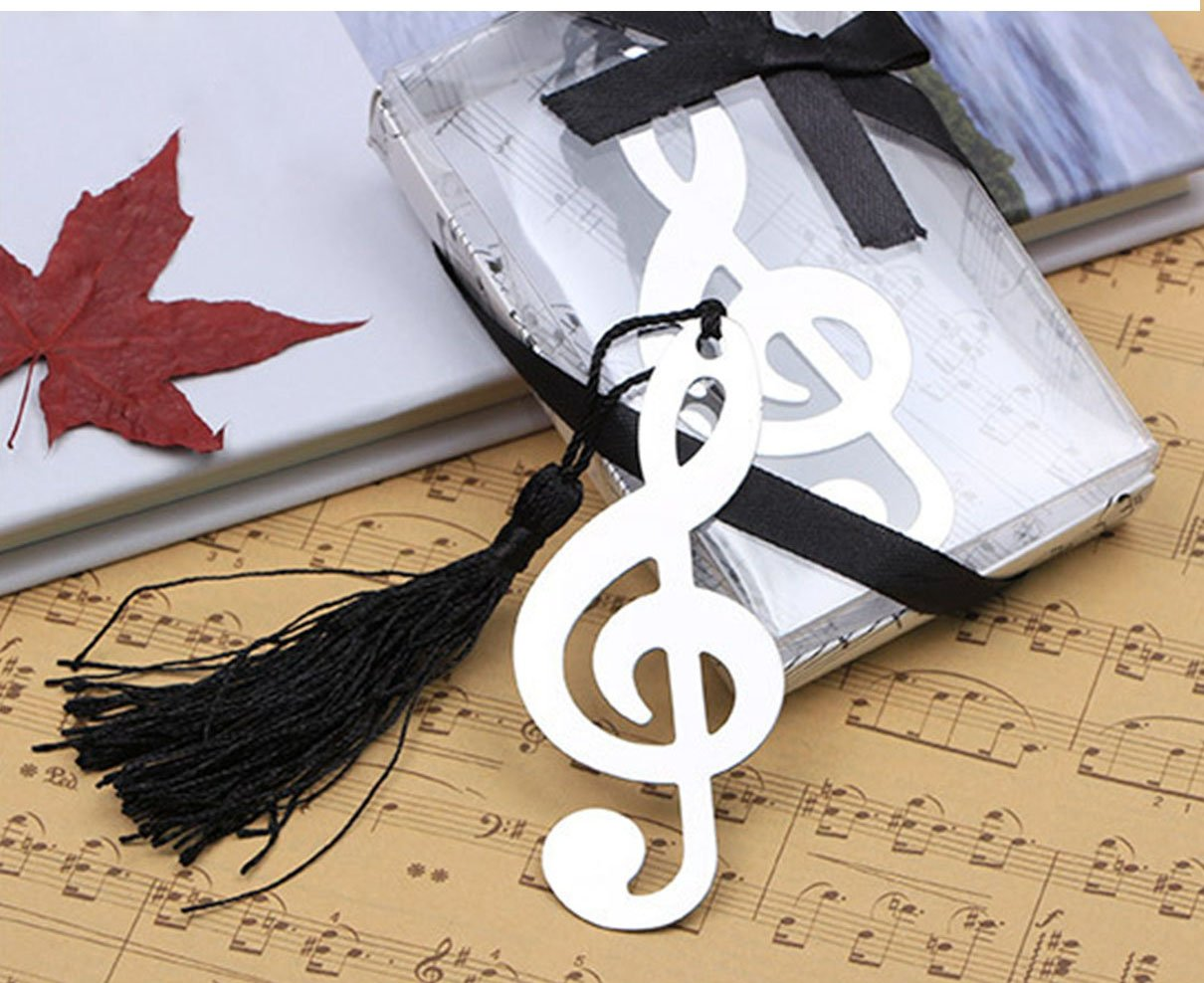 UPlama Pack of 8 Fashioncraft Music Bookmark Favors,Wedding Gift Favor Gift Boxed Book Lovers Collection Bookmarks