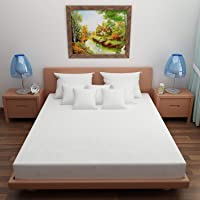 """Lithara Waterproof Dustproof Terry Cotton Mattress Protector for King Size Bed 78""""x72"""" (Maroon)"""