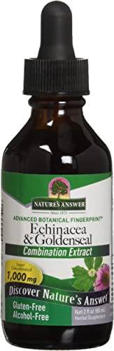 Nature's Answer Enchinacea Goldseal Supports a Healthy Immune System Super Concentrated Pure Extract Alcohol-Free