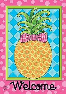 Briarwood Lane Pineapple Welcome Spring House Flag 28