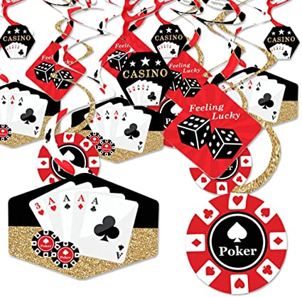 Big Dot of Happiness Las Vegas Casino Party Bunting Banner Party Decorations Feeling Lucky Casino Night