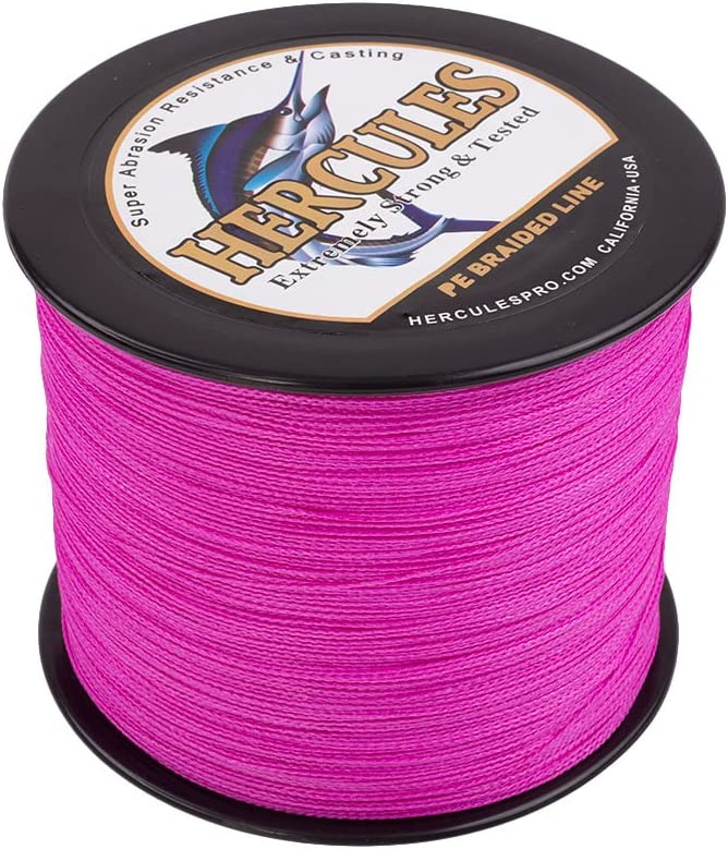 HERCULES Cost-Effective Super Strong 4 Strands Braided Fishing Line 6LB to 100LB Test for Salt-Water, 109 328 547 1094 Yards 100M 300M 500M 1000M , Diam 0.08MM – 0.55MM, Hi-Grade
