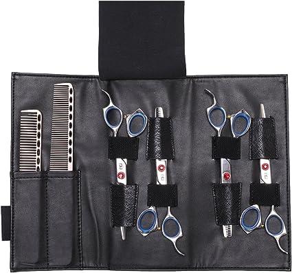 Bolsa para tijeras de peluquería, Organizador de peines y tijeras para peluquero – Piel de máxima calidad: Amazon.es: Belleza