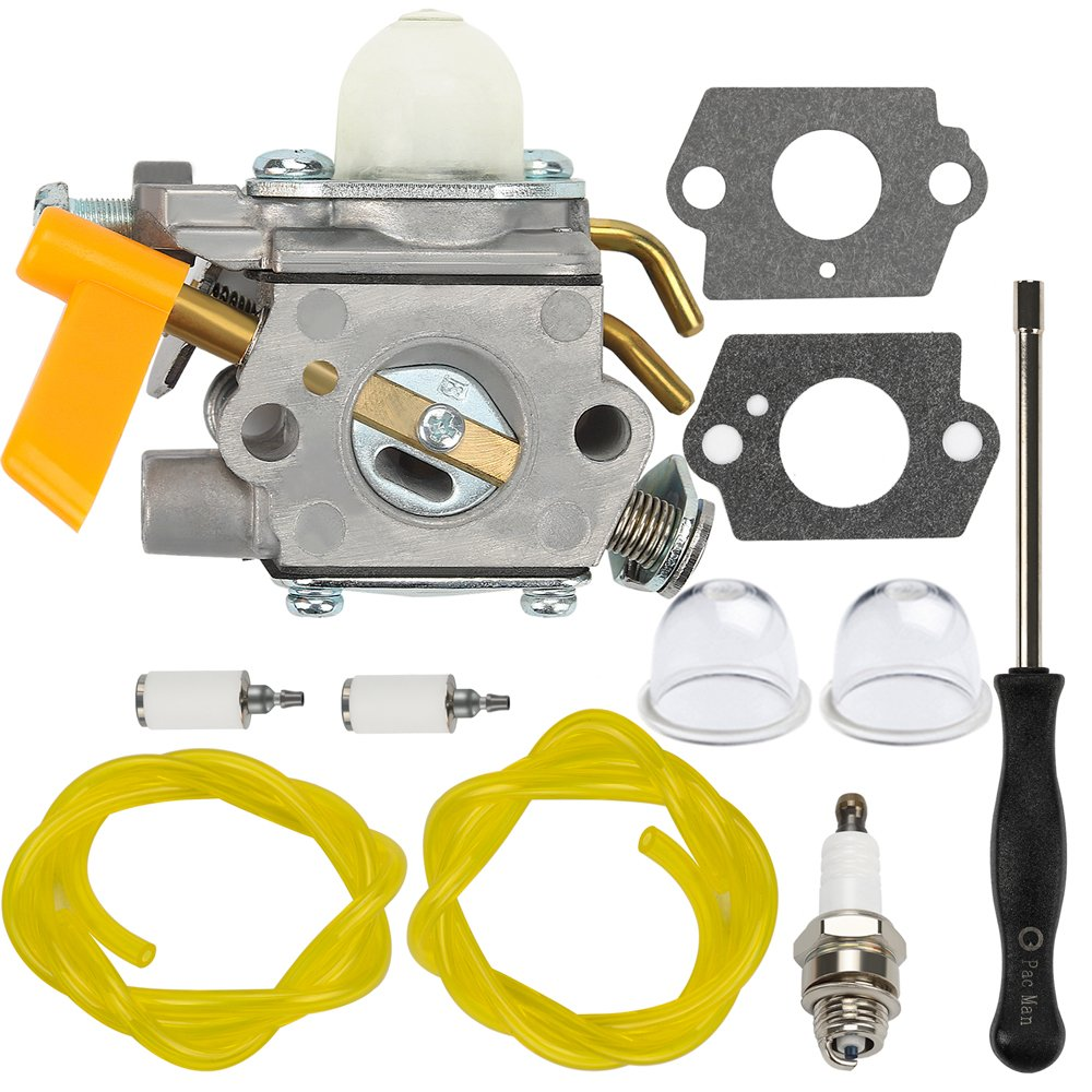 Dalom C1U-H60 Carburetor + Adjustment Tool for Ryobi Homelite 25cc 26cc 30cc String Trimmer Brushcutter 985624001 308054003 985308001 3074504