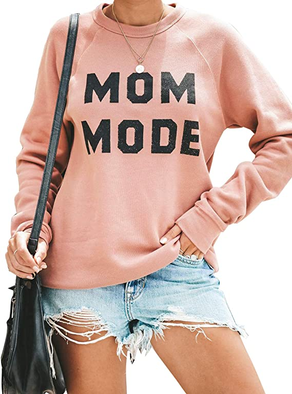 Blooming Jelly Women's Pullover Crewneck Sweatshirt Long Sleeve Letter Print Top Causal T Shirt
