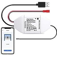 meross Smart WLAN garagedeuropener, app-bediening, compatibel met Alexa, Google Assistant en SmartThings, geen hub nodig…
