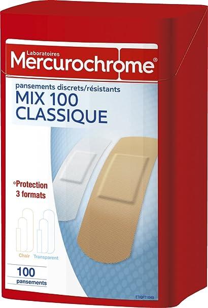 mercurochrome 050153 Boîte de pansements Lot de 100  Amazon.fr ... 6644bcfbb73b