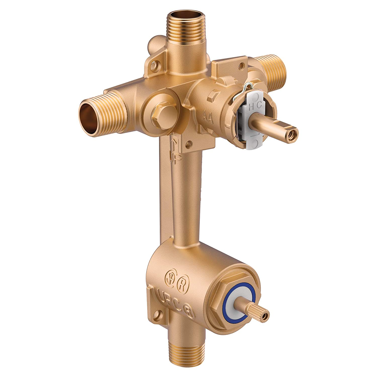 Moen 2551 Posi-Temp Pressure Balancing Valve with Built In 3-Function Transfer Valve, Includes Stops, CC/IPS