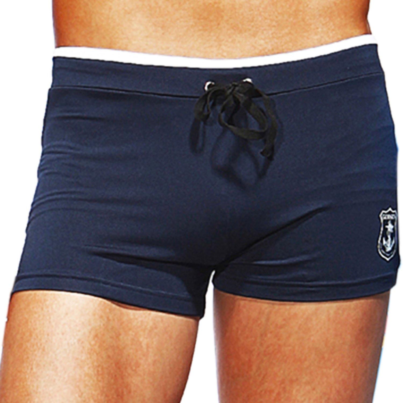 Godsen Men's Swimming Trunks Boxer Briefs Swimsuits Shorts 8921605