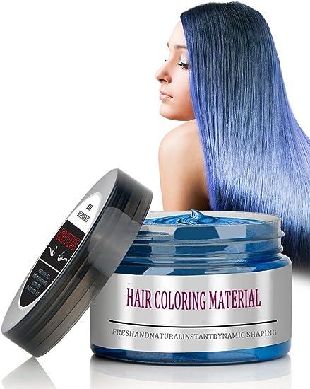 BMK color pelo cera mate libre estilo modelado estilo disposición temporal cera de peinado para Navidad, fiesta, vida cotidiana, discoteca, Cosplay