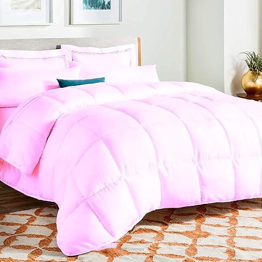 200 GSM Down Alternative Soft Comforter Egyptian Cotton Purple Solid US Sizes