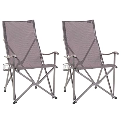 Lovely (2) COLEMAN Ergonomic Patio Lawn Outdoor Sling Camping Folding Chairs W/ Bag