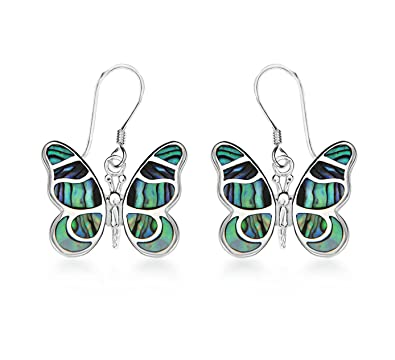 Tuscany Silver Sterling Silver Aqua and Green Crystal Dragonfly Drop Earrings gFUgd