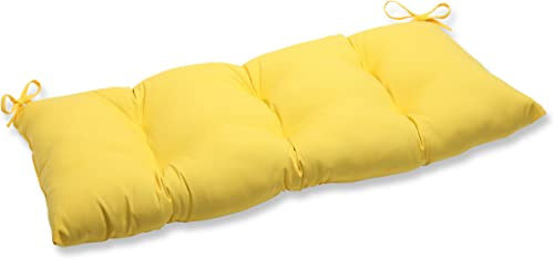 Pillow Perfect Indoor Outdoor Fresco Yellow Swing Bench Cushion
