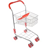 Pretend Play Shopping Cart- Toy Grocery Cart With Pivoting Front Wheels and Folds for Easy Storage for Kids, Boys and…