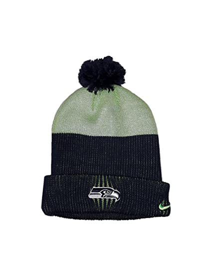 Image Unavailable. Image not available for. Color  Nike Seattle Seahawks  Sport Knit Pom Pom Hat Midnight Action ... 79cb6fda6