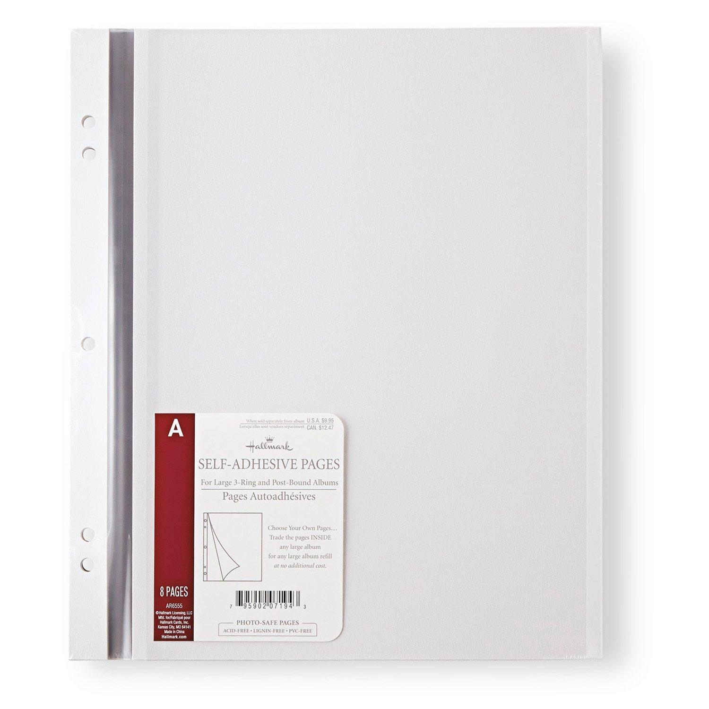Hallmark Adhesive Album Refill Pages, Large