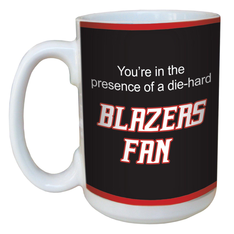15-Ounce Tree-Free Greetings lm44164 Blazers Basketball Fan Ceramic Mug with Full-Sized Handle