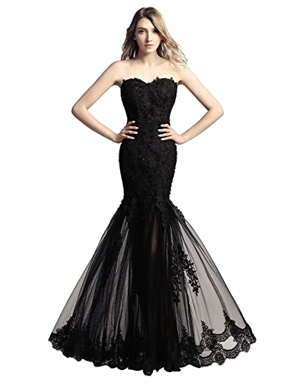 Sarahbridal Women Strapless Prom Dresses Evening Gown Long Elegant Tulle Party Dress Plus Size for Ladies