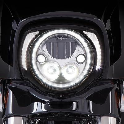 Ciro Fang LED Headlight Bezel Black for 2014-newer FLH 45201: Ciro: Automotive