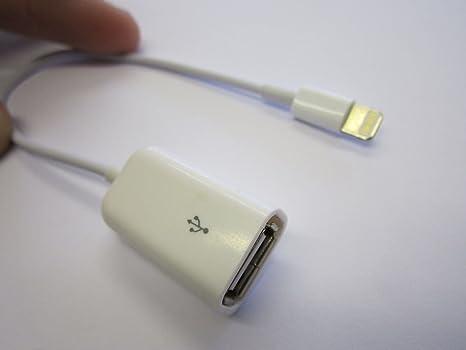 Iphone 5 Ipad 4 USB Puerto Cable Adaptador para Cargador de ...