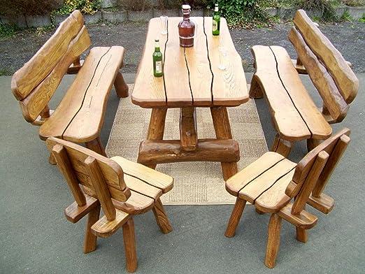 creativwohnen Muebles de Jardín Set De rural rustikelem roble ...