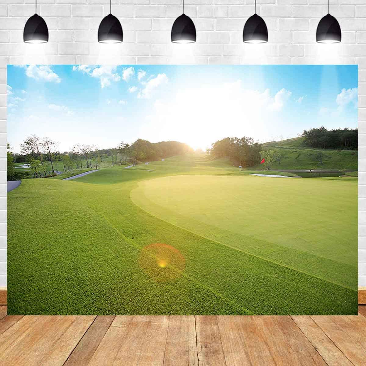Amazon Com Golf Course Backdrop For Golf Birthday Party Meetsioy 7x5ft Meadow Blue Sky White Clouds Photography Background For Golf Sports Party Photo Booth Youtube Backdrop Huimt417 Camera Photo