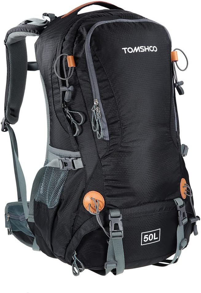 TOMSHOO 50L Versatile al abierto Mochila impermeable con cubierta impermeable
