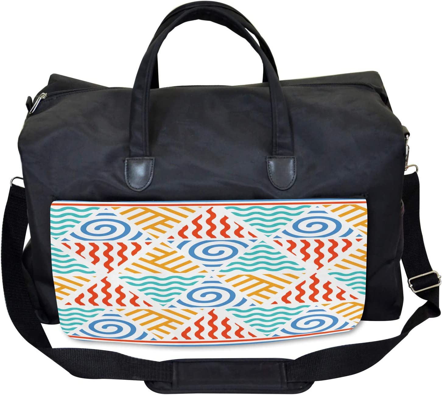 Ambesonne Tribal Gym Bag Large Weekender Carry-on Four Elements Retro Art