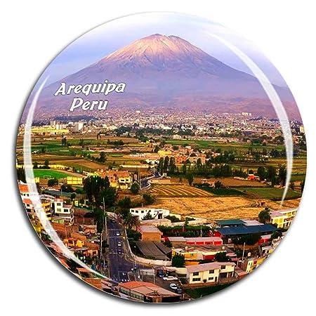 Weekino Volcan Misti Arequipa Perú Imán de Nevera Cristal 3D ...