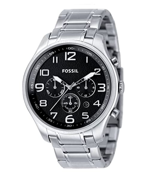 Amazon.com: Fossil Mens FS4513 Stainless Steel Bracelet Black Analog Dial Chronograph Watch: Fossil: Watches