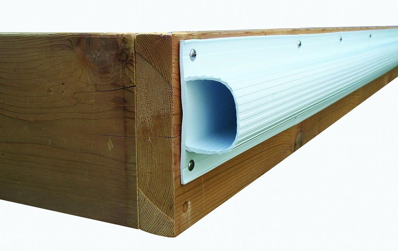 Dock Edge + Inc. Premium PVC Super Saver Dock Bumper Profile, 3-8-Feet Sections 3-8-Feet Sections (24-Feet Navy Blue) DE1015NF