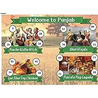 Craftgami - Punjabi Theme Tambola Tickets - Housie Tickets (24 Tickets)