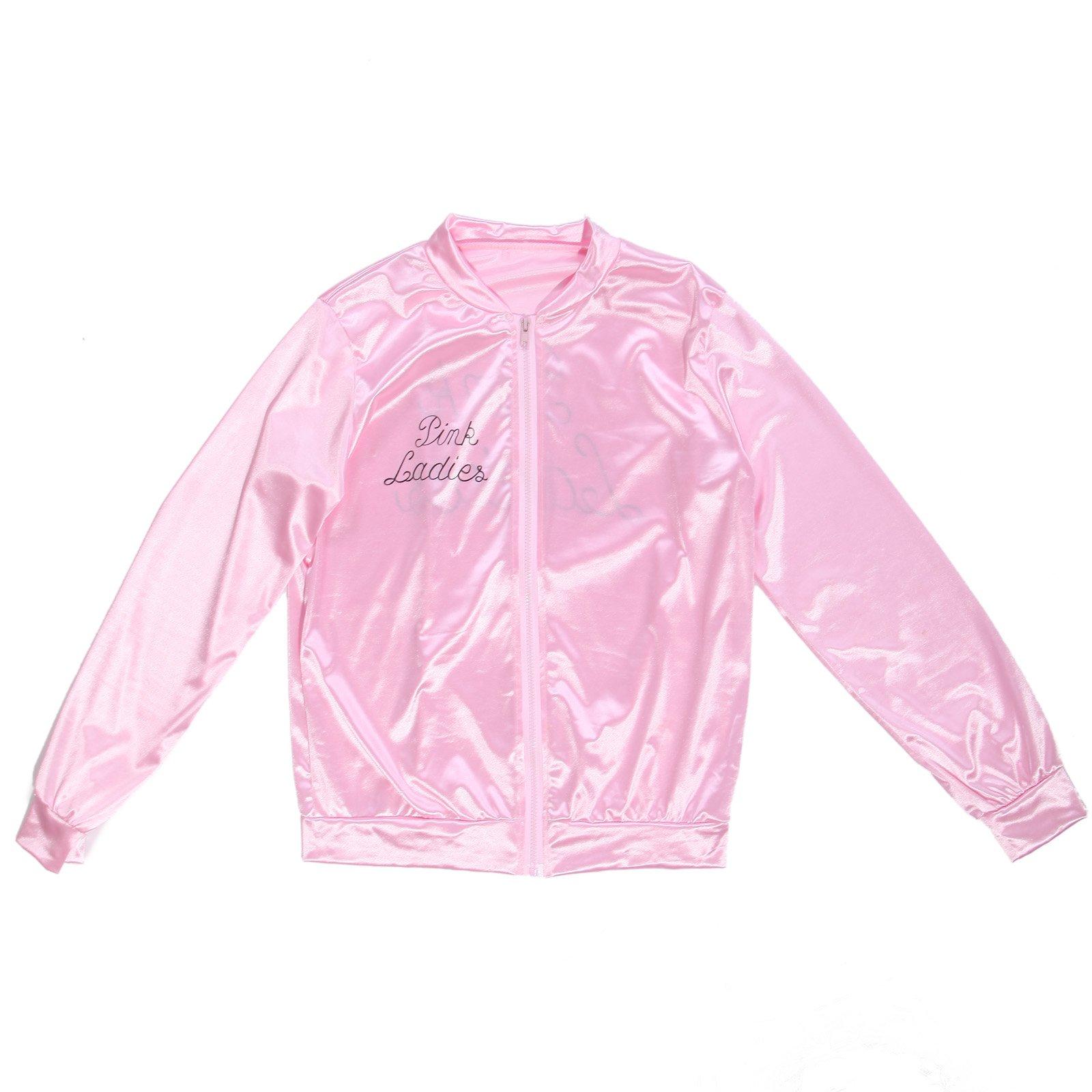 Fashoutlet Retro 50s Grease Pink Lady Sweetie Jacket Hen Party Dance Costume Fancy Dress by Fashoutlet
