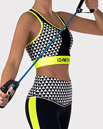IDAWEN Sport Fashion Sujetador Deportivo Mujer sin Aros. Top de ...